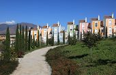 pic of urbanisation  - Colorful apartment houses in Andalusia southern Spain - JPG
