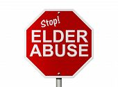 stock photo of stop bully  - An American road sign and words Stop Elder Abuse isolated on white Stop Elder Abuse Sign - JPG