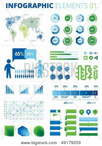 Infografic Elements poster
