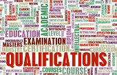 stock photo of credential  - Qualifications in Business and Education as Art - JPG