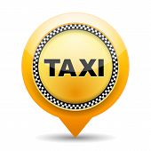 picture of cabs  - Taxi icon on white background - JPG