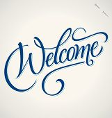 stock photo of letter  - WELCOME hand lettering  - JPG