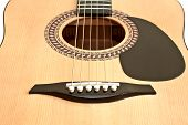 pic of fret  - Picture of acoustic guitar isolated on the white background - JPG