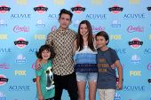 LOS ANGELES - AUG 11:  Kevin McHale, niece, nephews at the 2013 Teen Choice Awards at the Gibson Amp