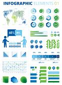 image of population  - This is a pack of infographic elements great for presentations - JPG
