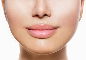 stock photo of big lips  - Beautiful Perfect Lips - JPG