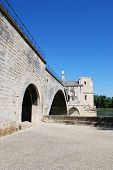 stock photo of avignon  - The Saint Benezet bridge on Rhone river in Avignon Provence France - JPG