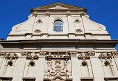picture of avignon  - Baroque church facade in Avignon town Provence France - JPG