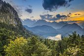 Bavarian Alps landscape in Germany.