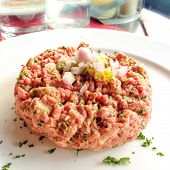 foto of tartar  - tasty Steak tartare  - JPG