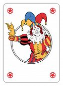 foto of joker  - Joker coming out of circle playing card - JPG
