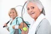 picture of vivacious  - Women going to play tennis - JPG