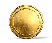 pic of coins  - gold coin isolated on a white background - JPG
