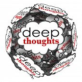 Deep Thoughts Clouds Creative Profound Ideas Solutions