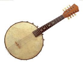 foto of banjo  - Vintage six string banjo in beautiful condition - JPG