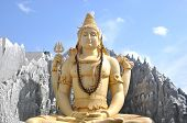 stock photo of shiva  - Indian temple in Bangalore - JPG