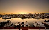 pic of life-boat  - Luxury yachts and motor boats moored in Puerto Banus marina in Marbella - JPG