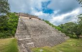 stock photo of the great pyramids  - The great pyramid in Uxmal Yucatan Mexico - JPG