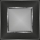 pic of metal grate  - background with metallic frame and grate texture - JPG