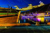 pic of tall ship  - Sailing ships in the harbour during the tall ships races Bergen Norway - JPG