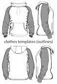 image of hooded sweatshirt  - Men - JPG