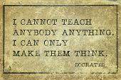picture of philosophy  - I cannot teach anybody anything - JPG