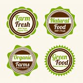 picture of farm  - Set of four badges of farm fresh - JPG
