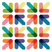 image of lap  - an abstract colourful over lapping arrow background - JPG