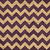 pic of zigzag  - Closeup burlap jute canvas vintage chevron zigzag textured background - JPG