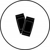 image of sachets  - condiment sachets symbol - JPG