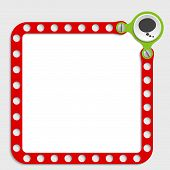 picture of bubble sheet  - red frame for any text with screws and speech bubble - JPG