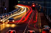 foto of noise pollution  - traffic in city at night - JPG