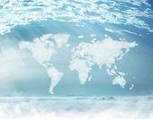image of cartographer  - Cloud world map - JPG