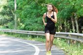 stock photo of rune  - Activity Beauty Women Runing In Morning Healthy lifestyle - JPG