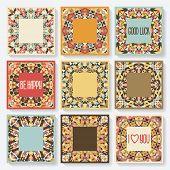 pic of kaleidoscope  - set of cards with kaleidoscope pattern - JPG