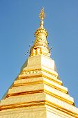 picture of cho-cho  - Gold pagoda wat phra that cho haephrae province Thailand - JPG