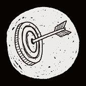 stock photo of archery  - Doodle Archery - JPG