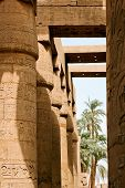 picture of hieroglyph  - Ancient ruins of Karnak temple in Egypt - JPG