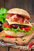foto of tomato sandwich  - Big sandwich  - JPG