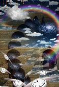 pic of metaphysical  - Metaphysical Illustration with passing time Elements of this image furnished by NASA - JPG