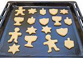Dough preform. Hanukkah cookies poster