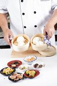 foto of chinese menu  - Chef presented Chinese Dim Sum  - JPG