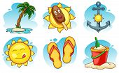 image of shovel  - A set of summer vector icons - JPG