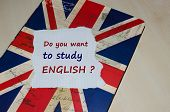 pic of grammar  - Do you want to study English message on paper note  - JPG