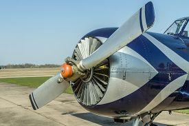 pic of ultralight  - Airports small sport airplane preparing to flight - JPG