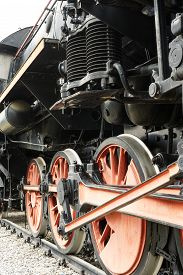 stock photo of steam  - Steam Locomotive historic railway locomotive anno 1941 - JPG