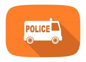 picture of designated driver  - police flat design modern icon with long shadow for web and mobile app  - JPG