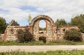 Постер, плакат: Ruins of the outbuildings of the estate of Baron Wrangel Torosovo Leningrad region Russia