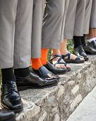 groom and groomsmen socks and shoes poster