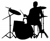 Drummer Silhouette poster